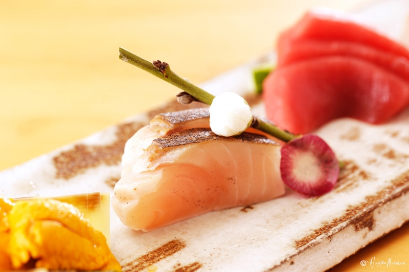 Sashimi decoration